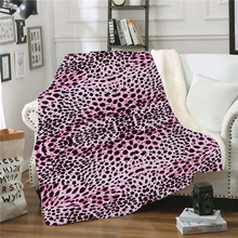 XC USHION 2019 Sexy Leopard Winter Blanket Adults Kids Warm Fluffy Throw Blankets For Sofa Bed Cover Game Christ Fleece Blanket(China)