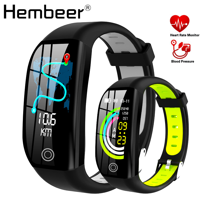 Hembeer H21 Smart Bracelet Fitness Tracker Heart Rate Monitor Blood Pressure Watch Clock Colorful Touch Screen Pk Fitbits