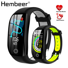 Hembeer H21 Smart Bracelet Fitness Tracker Heart Rate Monitor Blood Pressure Watch Clock Colorful Touch Screen pk fitbits(China)