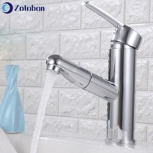 Sink Faucets Taps Mixer Deck-Mounted Kitchen-Basin Pull-Out Stainless-Steel Cold Hot-Water
