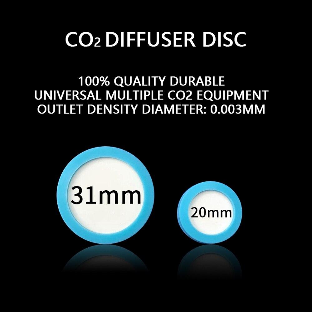 Aquarium CO2 Diffuser Chip Carbon Dioxide Kit Reactor Nano Refinement Ceramic Disc Replacement Slice  Aquatic Fish Tank Plant