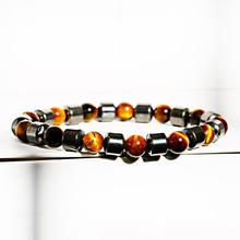 Tiger Eye & Hematite Bracelets for Women Cylinder Hematite Charm Bracelets Men Natural Energy Stone Bracelet Jewelry Accessories fashion obsidian tiger eye stone bracelets for men new natural stone beads man bracelet men charm yoga jewelry gift 2020 pulsera