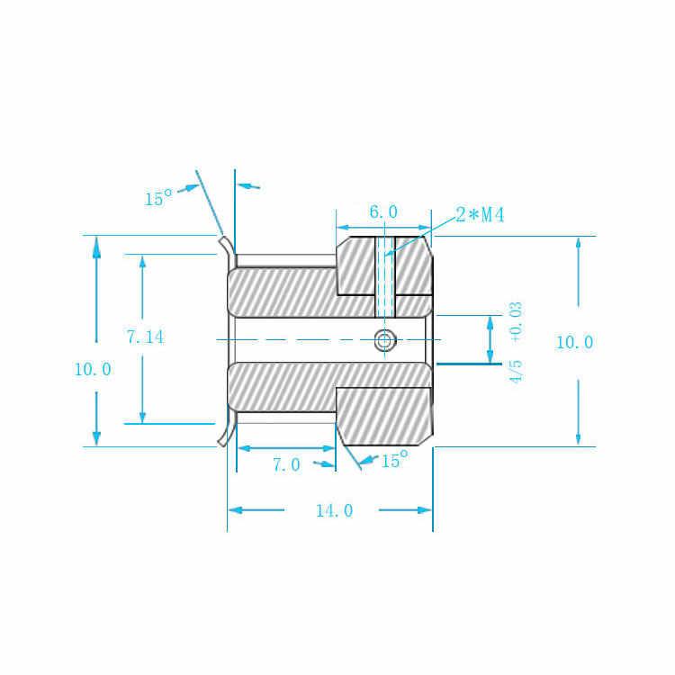 GT2 Timing Pulley 12 ฟันBore 4 มม.5 มม.สำหรับความกว้าง 6 มม.2GT Synchronousเข็มขัดขนาดเล็กBacklash 12 ฟัน