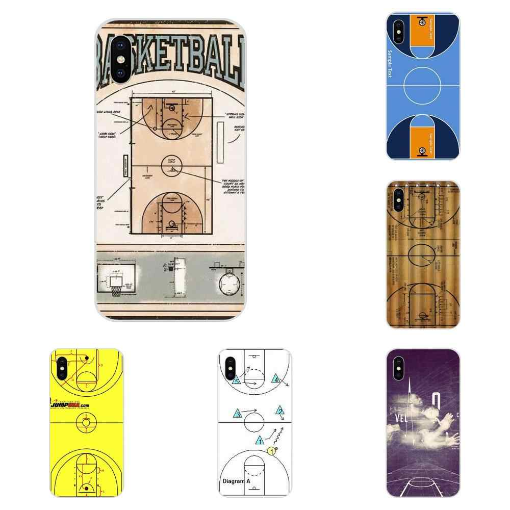 Basketball Court Diagram Soft Phone Case Coque For Galaxy J1 J2 J3 J330 J4 J5 J6 J7 J730 J8 2015 2016 2017 2018 mini Pro