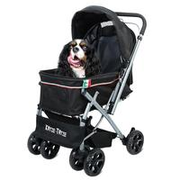 Outdoor Pet Cart Dog Cat Carrier Pet Stroller Multicolor Oxford Cloth Steel Pipe High intensity 4 wheels One key Folding 36