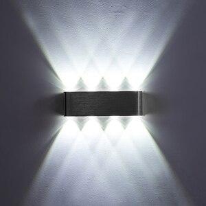 Image 3 - Ip65アップダウン壁ランプledシルバーアルミ屋外屋内ホーム階段の寝室のベッドサイドランプ浴室ライト