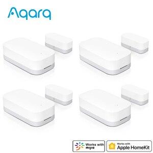 Image 1 - Aqara Door Window Sensor Door Magnet ZigBee Wireless Connection Work with HomeKit MIJIA APP for Home Security From Xiaomi Youpin
