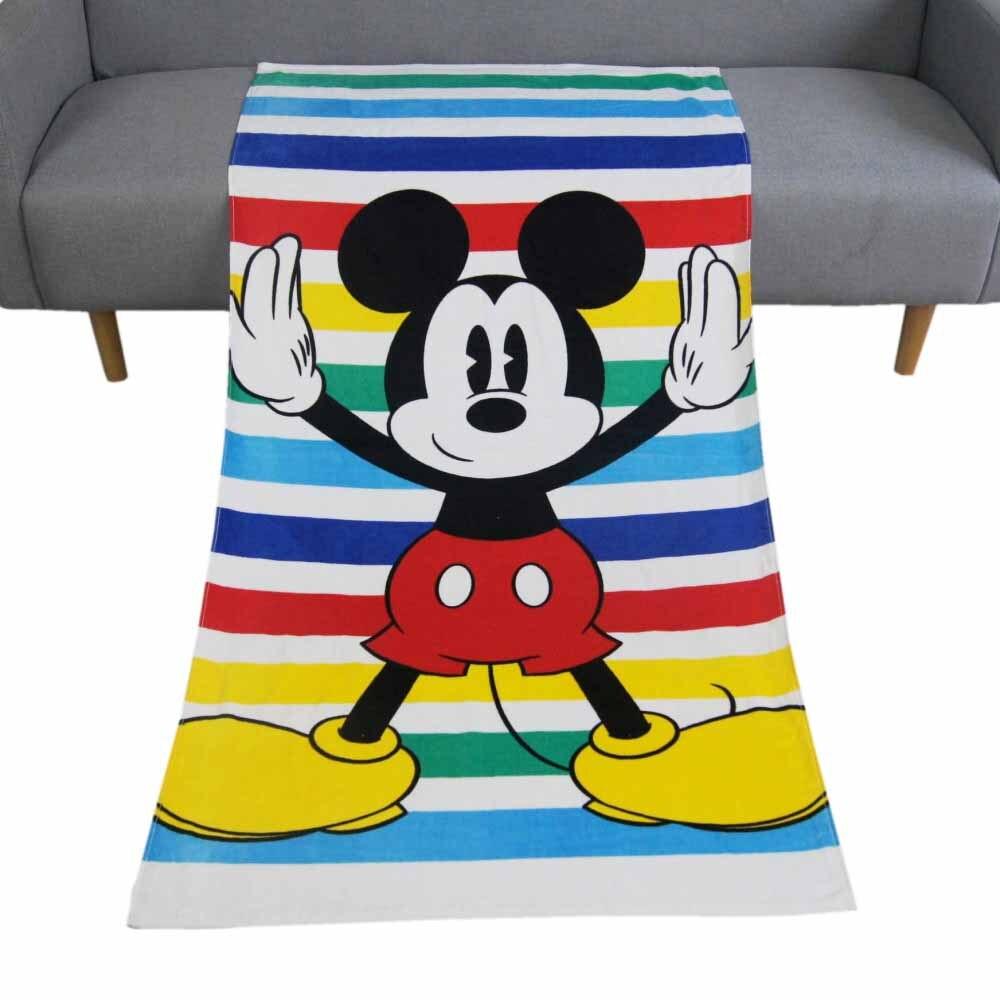 Disney Cartoon Strip Mickey Minnie Mouse Frozen Bath/Pool/Beach Towel Super Soft Absorbent 100% Cotton Swimming Towel 75x150cm