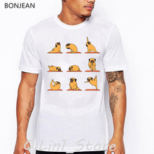 2019 animal yoga print tshirt men Boston Terriers Avocado T-Shirt homme funny t shirts camisetas hombre tumblr Tops tee