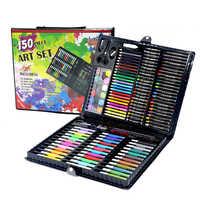 Enfants Art ensemble enfants dessin ensemble eau couleur stylo Crayon huile Pastel peinture dessin outil Art fournitures papeterie ensemble 150 pièces