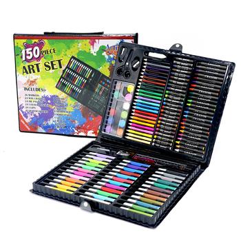 Zestaw artystyczny dla dzieci zestaw do rysowania dla dzieci pisak akwarelowy pastelowy obraz olejny narzędzie do rysowania dostaw sztuki zestaw papeterii 150 sztuk tanie i dobre opinie jusenda JSG-077-001