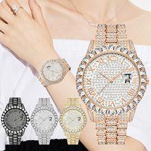 Nieuwe Vrouwen Luxe Full Diamanten Stalen Strip Horloges Legering Vrouwelijke Mode Quartz Analog Diamond Horloge Geschenken Zegarek Damski 2021