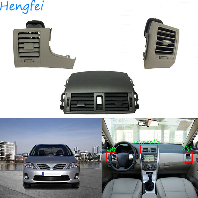 HengFei car accessories Air outlet for Toyota Corolla ALTIS Instrument panel outlet air conditioner outlet Workbench air outlet