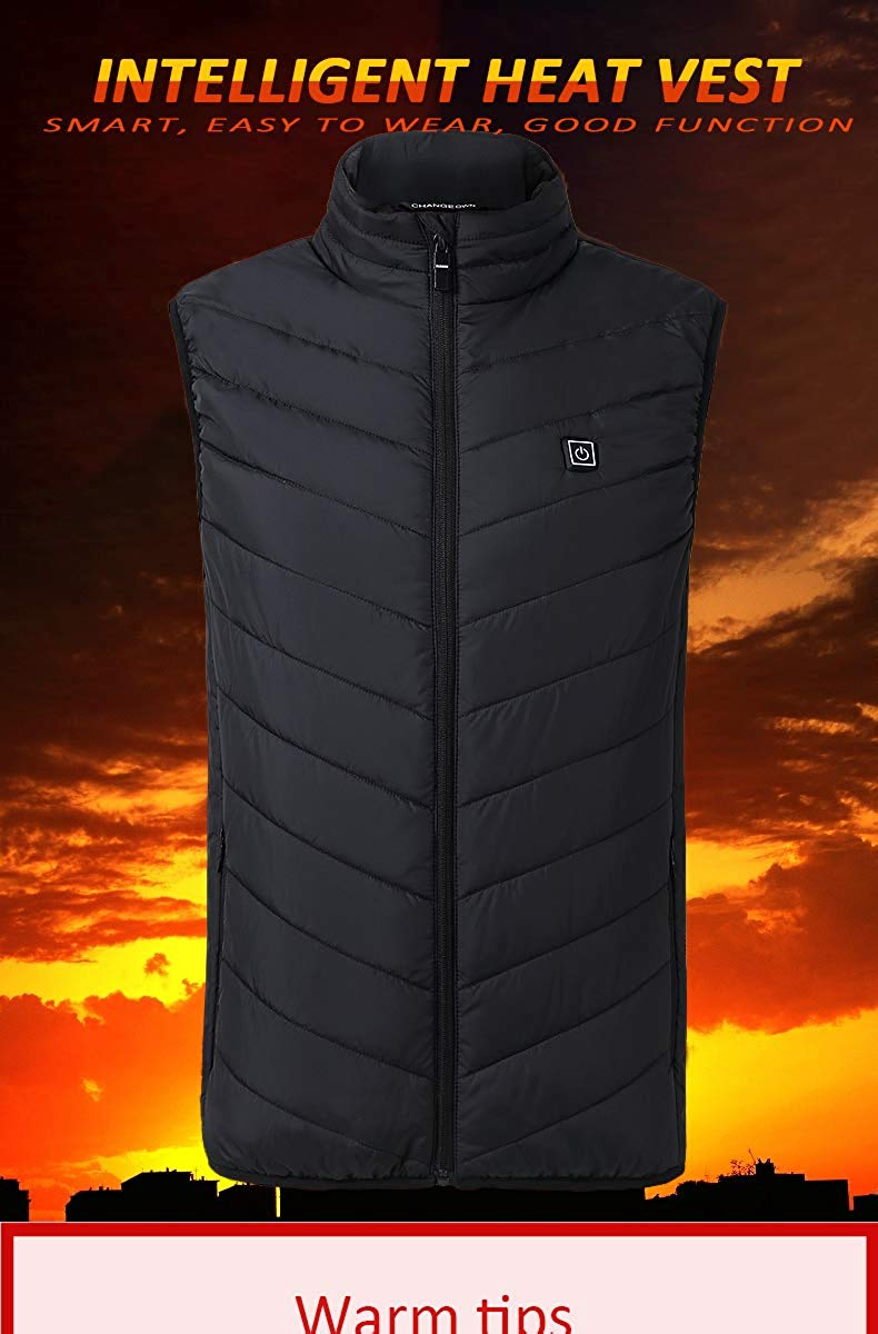Electric Heated Vest Men Women Heating Waistcoat Thermal Warm Clothing Usb Heated Outdoor Vest Winter Heated Jacket|Hiking Vests|Sports & Entertainment - title=