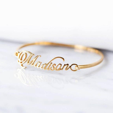 Custom Name Bracelet Bangle BFF Handmade ID Bijoux Femme Personalized Calligraphy Bracelets