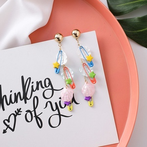 MENGJIQIAO 2019 New Exaggerated Colorful Flower Starfish Long Tassel Drop Earrings For Women Fashion Jewlery Boucle d'oreille