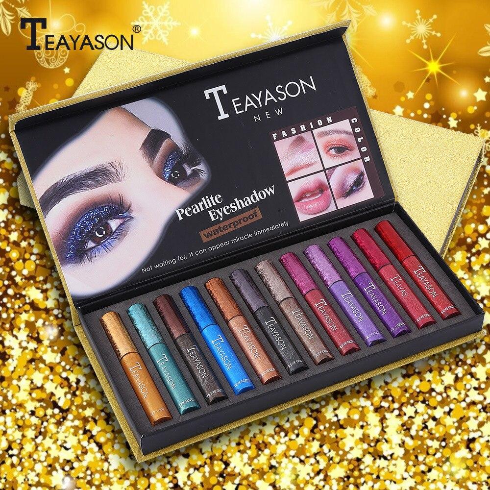 12 Pearlite p s lote Diamante Maquiagem Pigmento da Sombra Da Sombra de Olho Cosm ticos