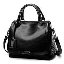 Women's fashion solid color iron ornaments rivets covered shoulder bag Messenger bag handbags Sac Bandouliere #YL5 punk style solid color and rivets design women s shoulder bag