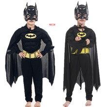 Çocuk vampir kas Batman kostümleri ve maskeleri pelerin çocuk süper kahraman Cosplay cadılar bayramı Masquerade parti Superman kostüm