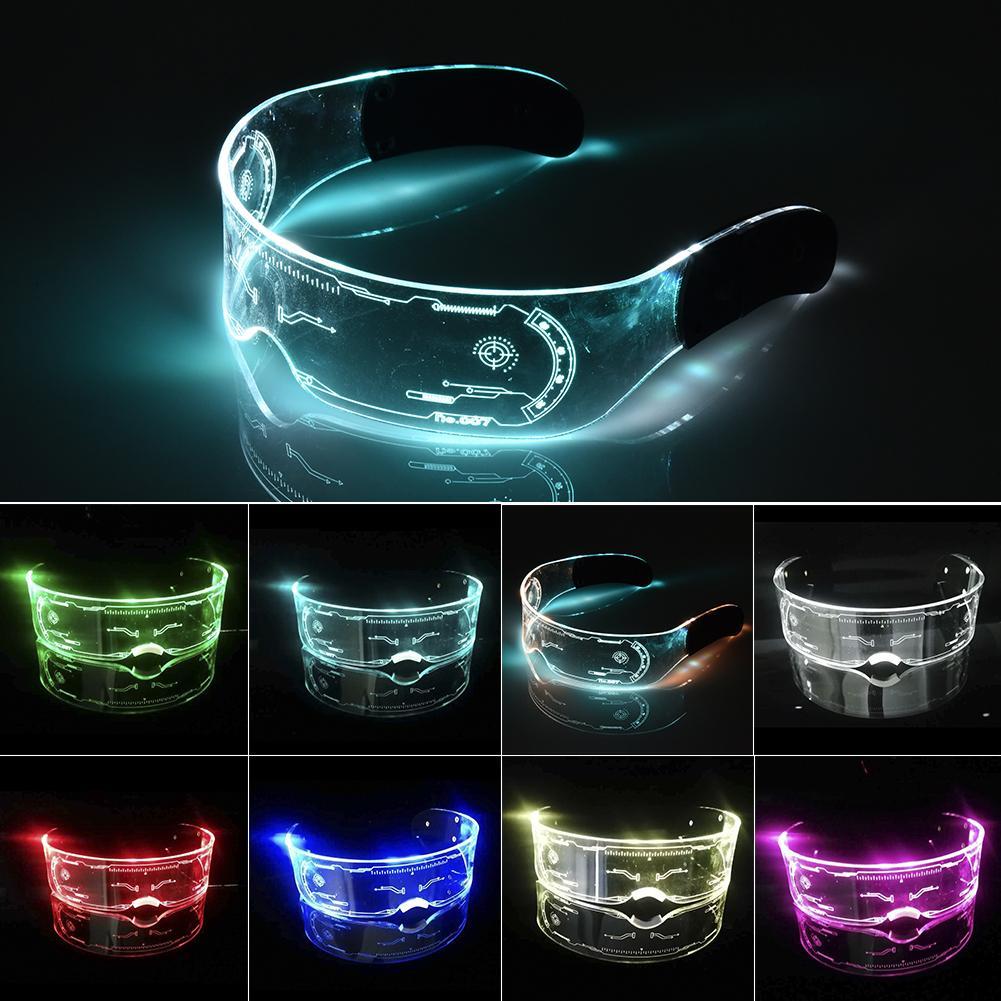 Óculos de led el fio neon festa luminosa led óculos de luz acima óculos rave traje festa decoração dj óculos de sol dia das bruxas decoração
