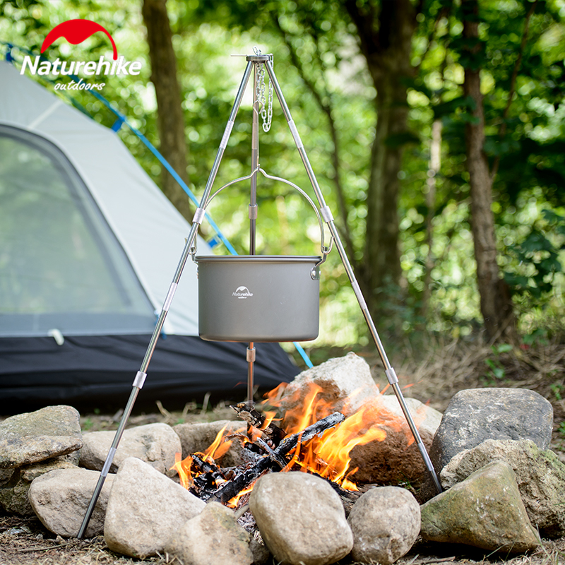 Details about  /Outdoor Camping Tripod Portable Cooking Campfire Pots Holder Picnic Casts New