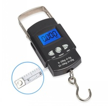 1Pcs Multifunction Portable Luggage Scale 50kg Digital Electronic Weight Practical Mini Hand Fish Hook Hanging
