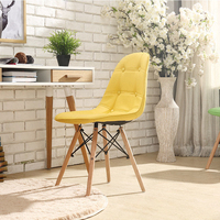 Solid Wood Nordic Home Lazy Chair Computer Back Makeup Stool Fabric Blue Mesh Chair Modern Minimalist Dining Chair Leather