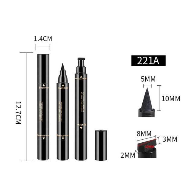 1 Pcs Double-ended Eyeliner 2-in-1 Waterproof Black Eyeliner Pencil Make Up Beauty Cosmetics Long-lasting Eye Liner makeup tools 4