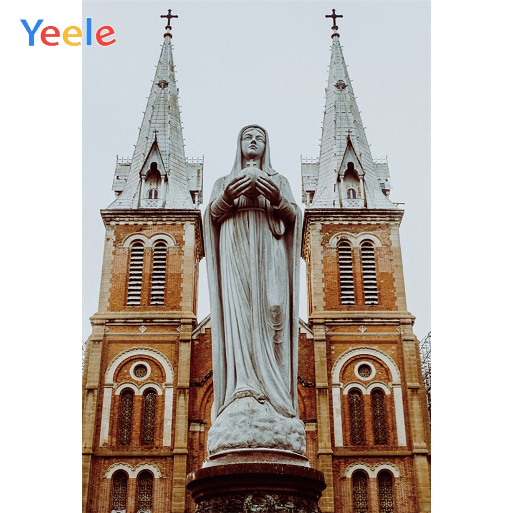 Yeele Scenery Photocall Gothic Wood Church Sculpture Photography Backdrop Personalized Photographic Backgrounds For Photo Studio in Background from Consumer Electronics