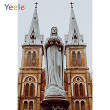 Yeele Scenery Photocall Gothic Wood Church Sculpture Photography Backdrop Personalized Photographic Backgrounds For Photo Studio