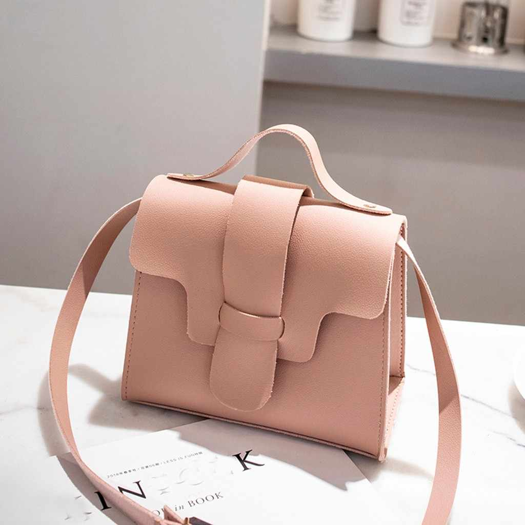 女性のクロスボディトートバッグ女性 2019 ファッションソフトレザー無地クロスボディメッセンジャーの女性のハンドバッグ財布ショルダーバッグ