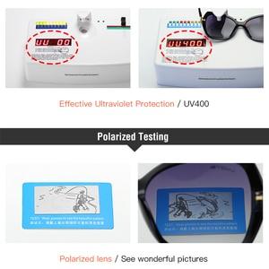 Image 5 - Очки солнцезащитные женские поляризационные в большой оправе, UV400