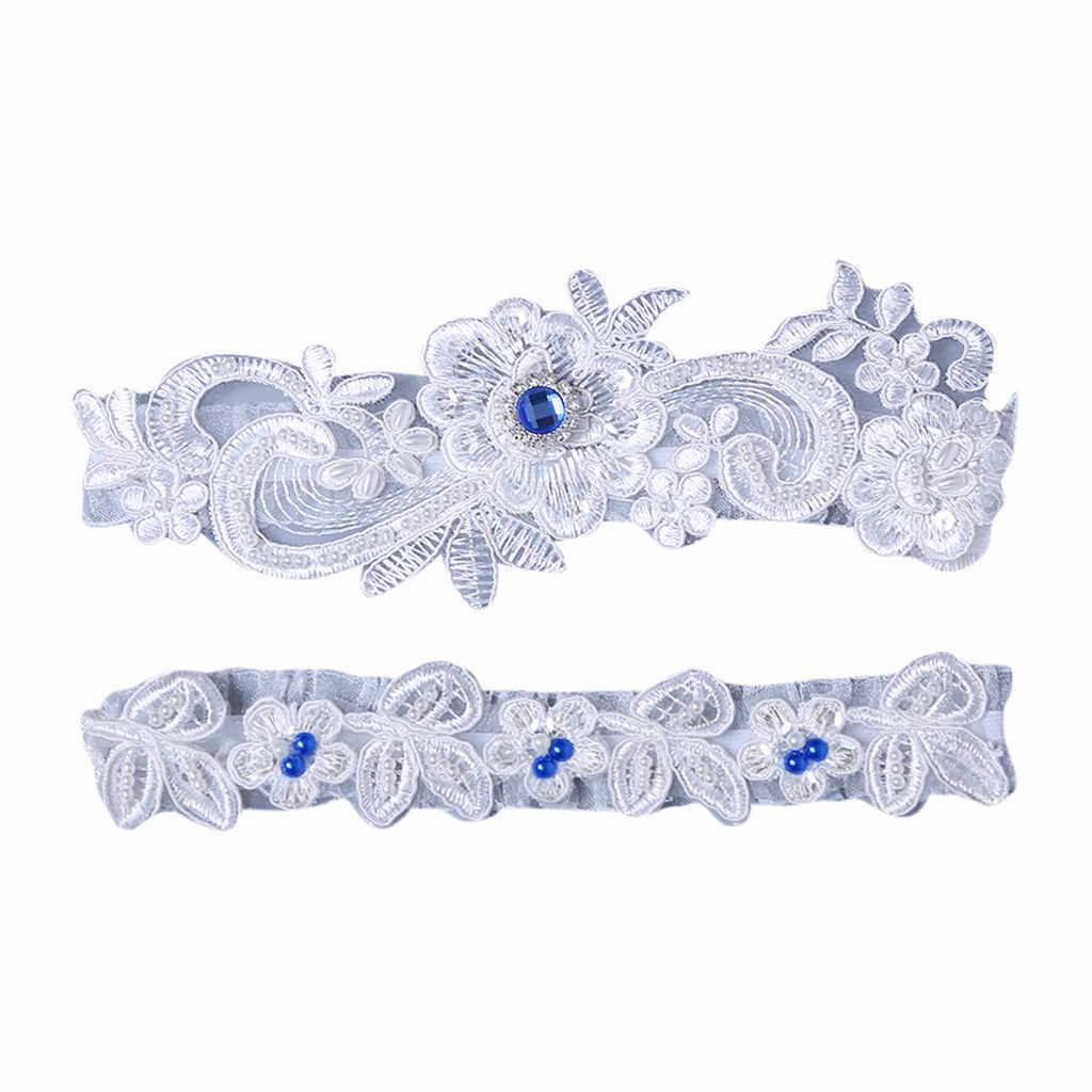 Wedding Garters For Bride Garter Set For Bride Blue Wedding Garter