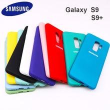 Чехол для Samsung Galaxy S9 Plus, шелковистый мягкий на ощупь чехол из жидкого силикона, стильный защитный чехол для Galaxy S9 + Plus