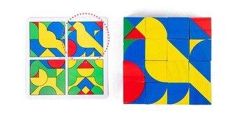 חדש לילדים מעץ צעצועים חינוכיים pixy קוביות בלוקים מרחב חשיבה אינטליגנציה לילדים תינוק 17