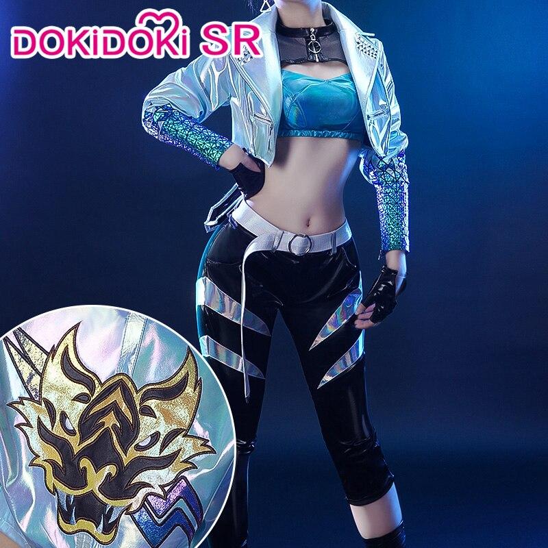 PRE-SALE-Cosplay de la Liga de las leyendas KDA Akali LOL, Halloween, DokiDoki-SR