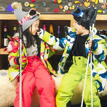 Dzieci zimowe ciepłe narty terenowe kurtka dla chłopców dziewcząt dziecięca odzież zimowa kurtka snowboardowa wodoodporna odzież wiatroodporna tanie i dobre opinie VECTOR CN (pochodzenie) POLIESTER NYLON COTTON Chłopcy Z kapturem Skiing Dobrze pasuje do rozmiaru wybierz swój normalny rozmiar