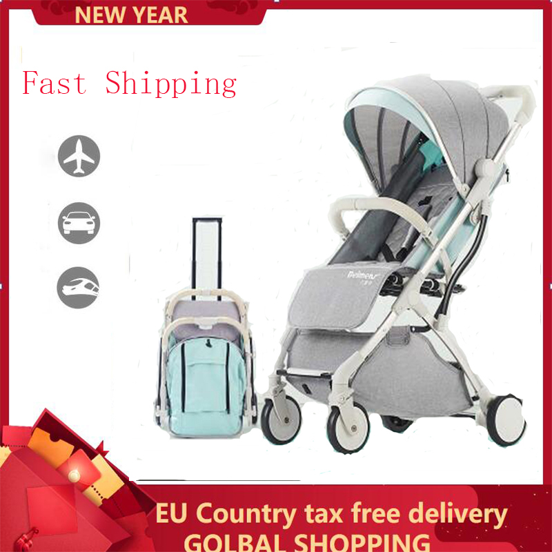 TIANRUI Lightweight folding baby stroller can sit can lie can on the plain 2 in 1 baby carriages silla de paseo