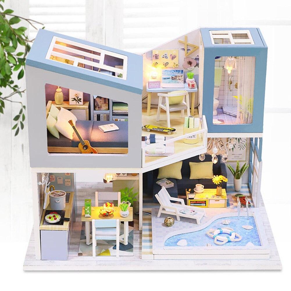 Hd9ef23ed46c440ada0d9dc6fa437ff50I - Robotime - DIY Models, DIY Miniature Houses, 3d Wooden Puzzle