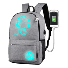 Anti-thief Bag Luminous School Bags For Boys Girls Student Backpack Male Travel mochila with USB Laptop Backpacks For Teenagers myosazee brand new design one piece backpacks luminous 4 colors school bags canvas printing for teenagers backpack male bag