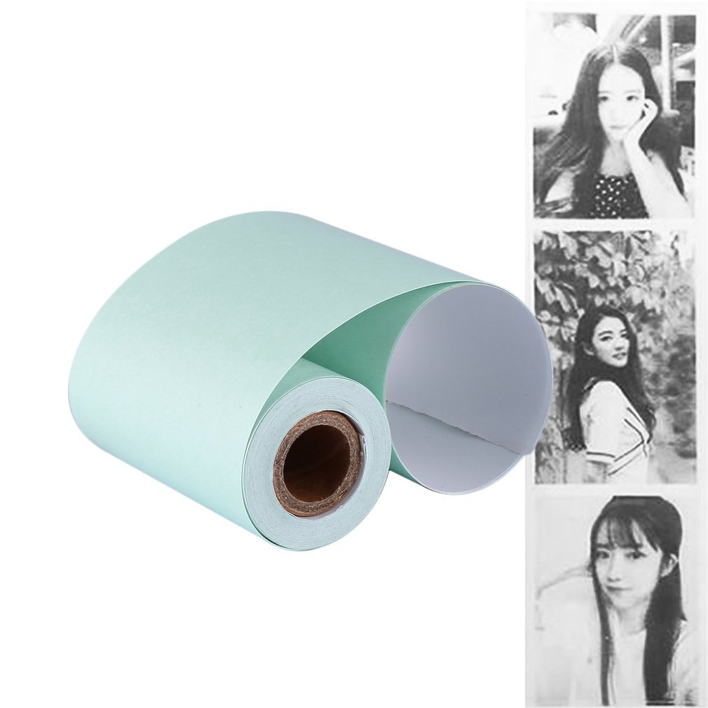 3pcs Color Thermal Paper Roll 57*30mm Photo Paper Clear Printing For PeriPage A6 A8 PAPERANG P1/P2 Mini Pocket Photo Printer