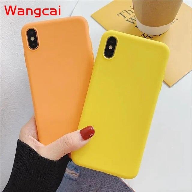 candy color silicone phone case for huawei p40 pro plus p30 lite pro p20 lite p10 p smart plus z 2019 2018 case matte tpu cover 4