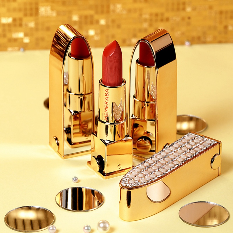 Diamond Shiny Waterproof Lipstick With Mirror