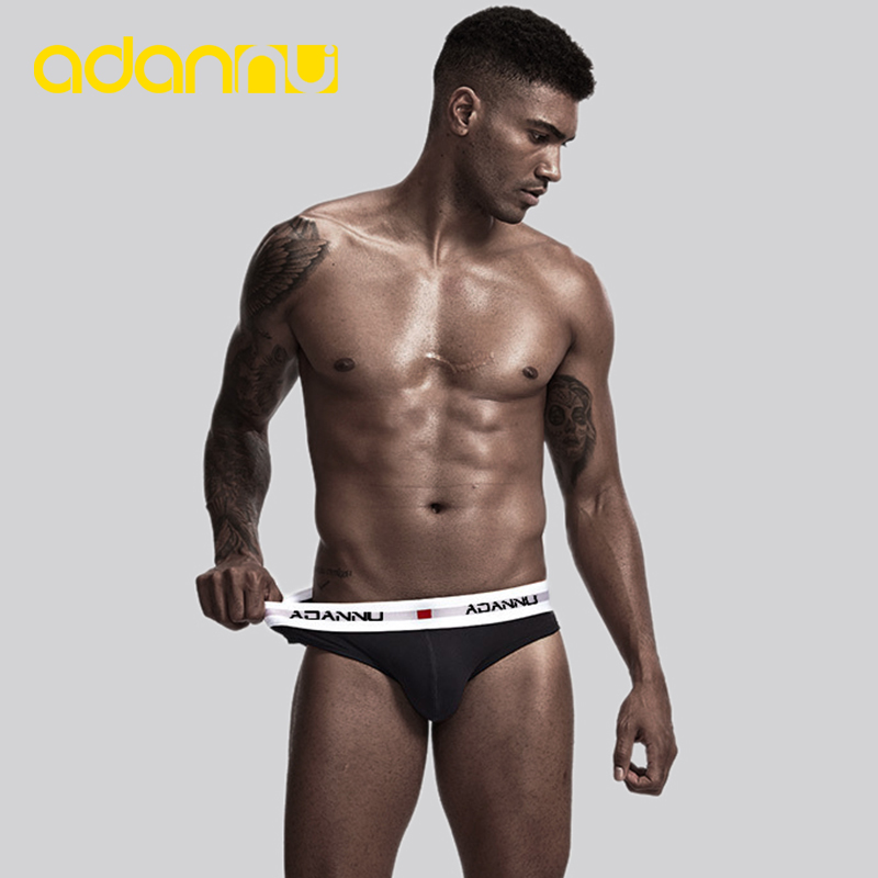 ADANNU Brand Men Underwear Sexy Men Briefs Cotton Breathable Male Panties Cueca Tanga Men Underpants U Pouch Slip Homme