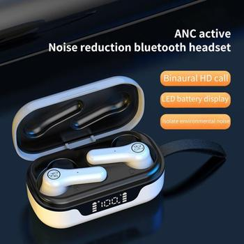 Original HBQ ANC Pro Bluetooth V5.1 Headset Active Noise Cancelling LED Display Mini Wireless Touch