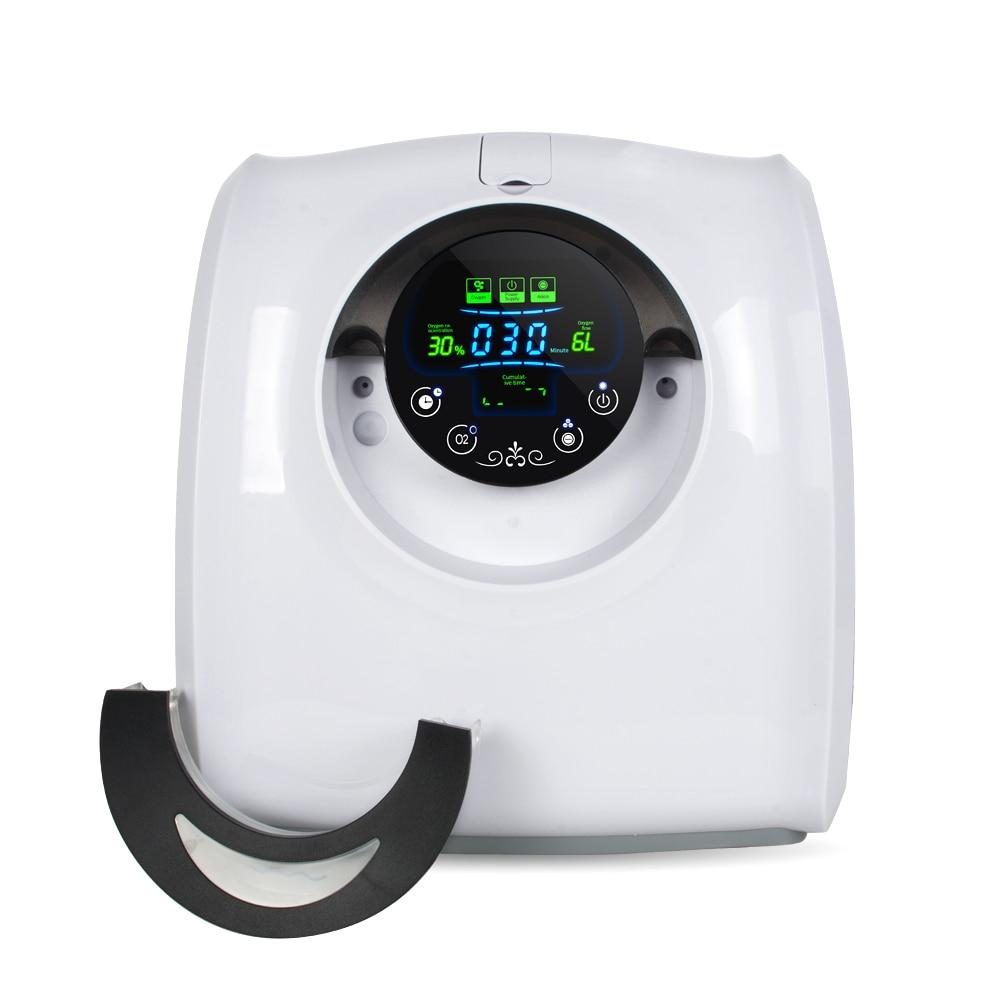 1-6L/Min Sauerstoff Generator O2 Konzentrator Luftreiniger Maschine mit Anion und Vernebler Funktion 110V