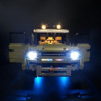 LED Licht Kit Für 42110 Technik series defender auto Modell Bausteine (nur licht enthalten)