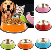 Lovely Pets Dog Bowls Feeders Stainless Steel Travel Outdoor Home Pet Cute Dog Cat Water Food Feeding Bowl Portable Dish Feede