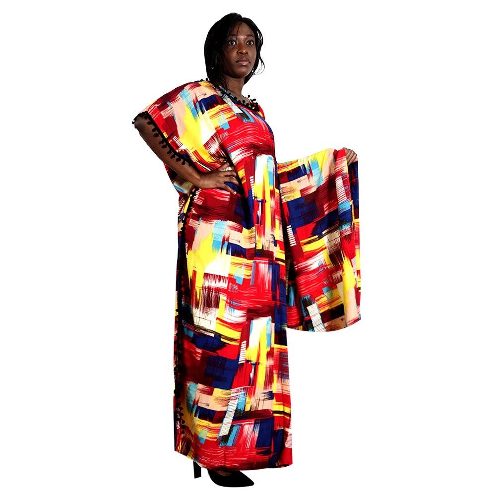 Африканские платья с помпонами для женщин халат 2020 африканская