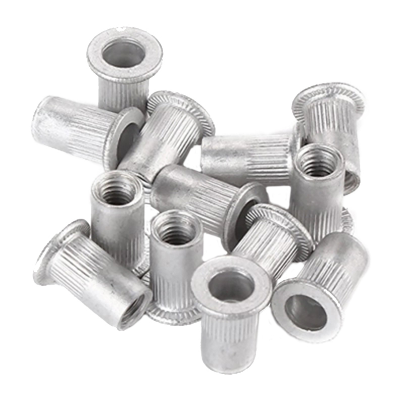 100pcs/set 1/4-20 Aluminum Flange Nutserts Rivet Nut Kit Rivnut Nutsert Set Durable Rivet Nut Threaded Rivnut Insert